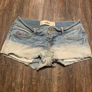 Hollister light wash ombré jean shorts